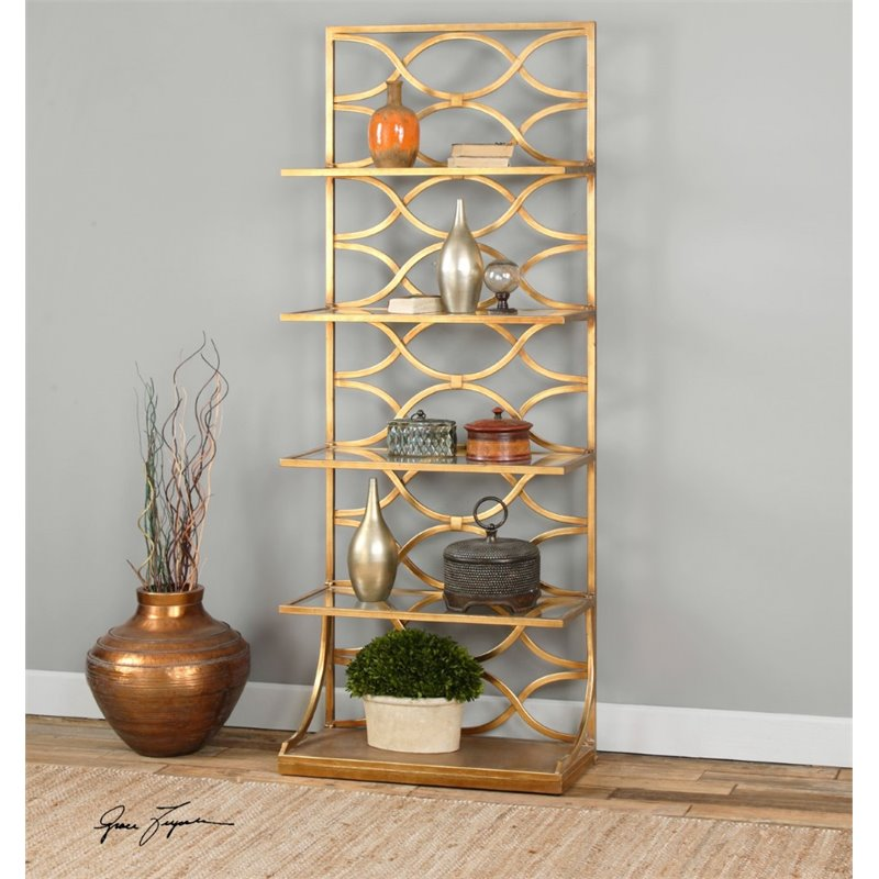 Uttermost Lashaya Gold Etagere by Uttermost