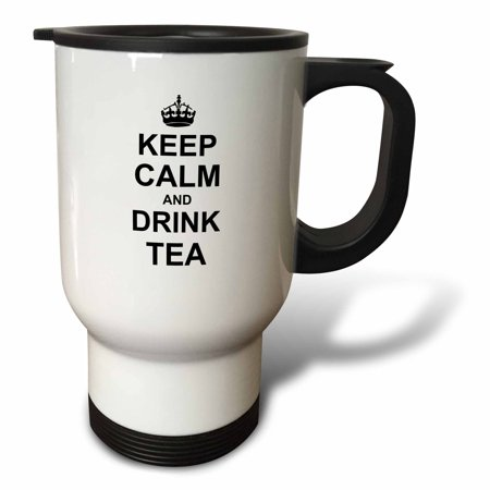 3dRose Keep Calm and Drink Tea - Carry on drinking - for tea