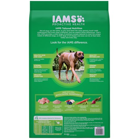 Best Iams Proactive Health Adult Dry Dog Food For Large Dogs, Chicken, 15 Pound Bag deal