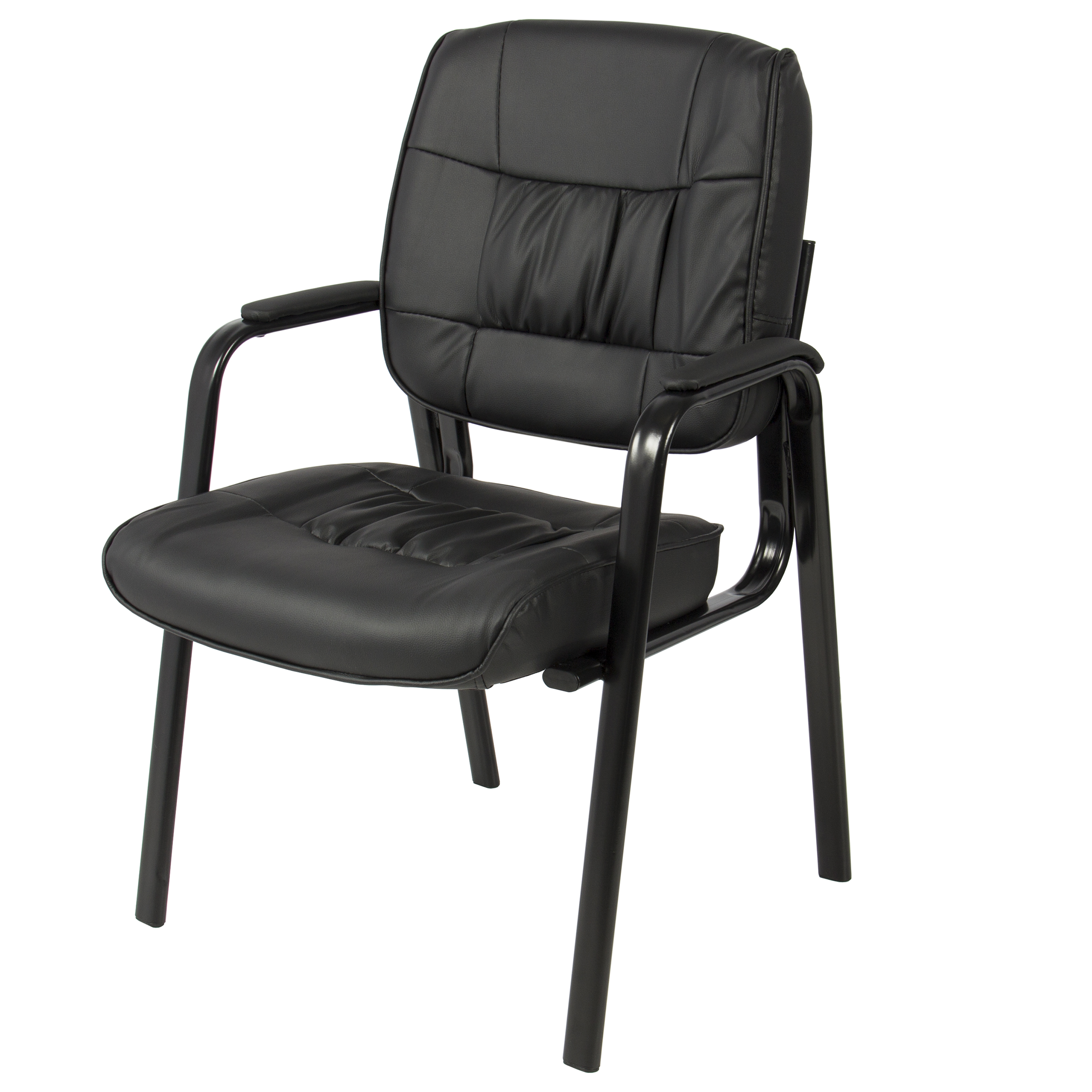 Excellent Best Choice Products Padded Leather Reception Office Side Chair Black Caraccident5 Cool Chair Designs And Ideas Caraccident5Info