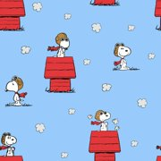Snoopy Red Baron Toss 69758 Springs Creative 100% Cotton Fabric By The Yard