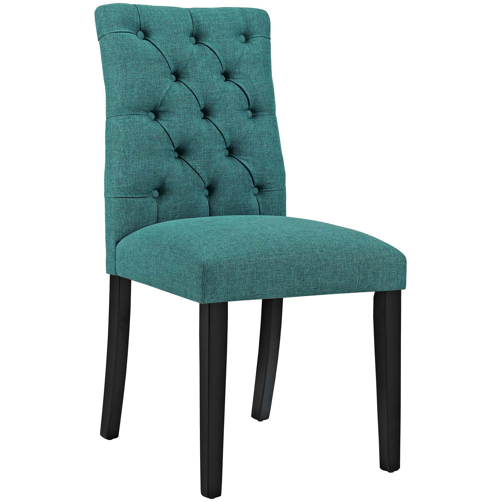 Modern Contemporary Urban Design Kitchen Room Dining Chair, Blue, Fabric