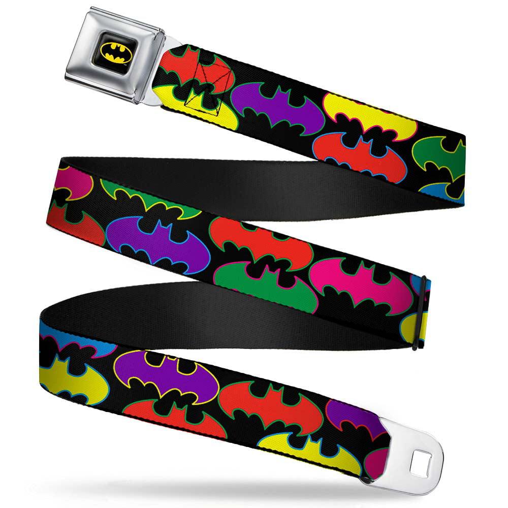 "Batman Fcg Black Yellow 1.0"" Chrome Batman Random Logo Black Multi Color Web Belt... by"