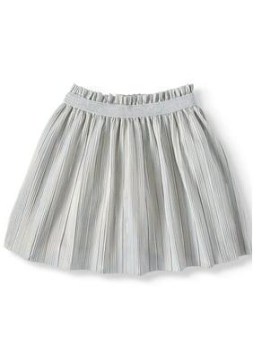 Wonder Nation Girls? and Plus Girls? Pleated Shine Skirt