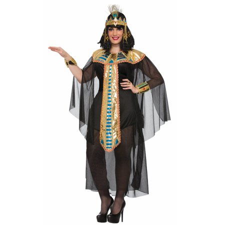 Black Egyptian Queen Of The Nile Cleopatra Goddess Costume-Plus Size