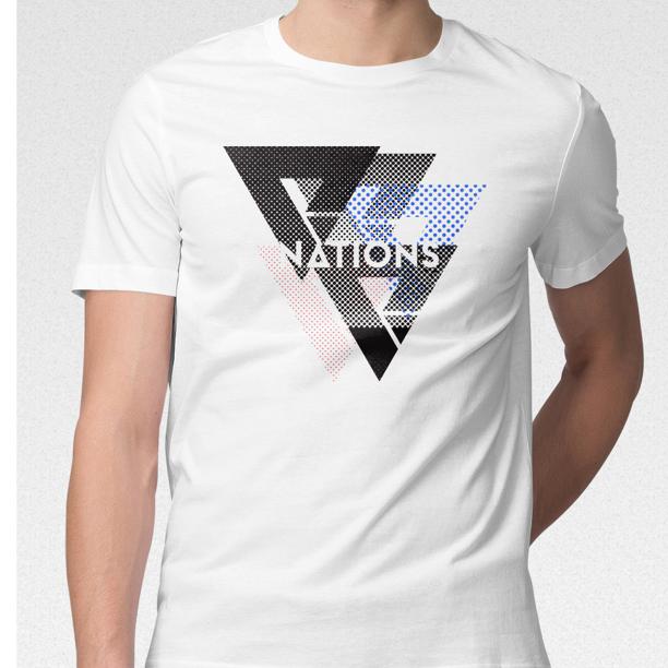 We Are Nations Halftone Tee White Walmart Com Walmart Com
