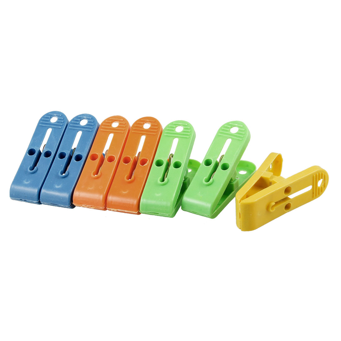 Back to School / College Gifts and Accessories | 7 Pcs Home House Multicolored Plastic Clothes Clips Hanging Pins Pegs