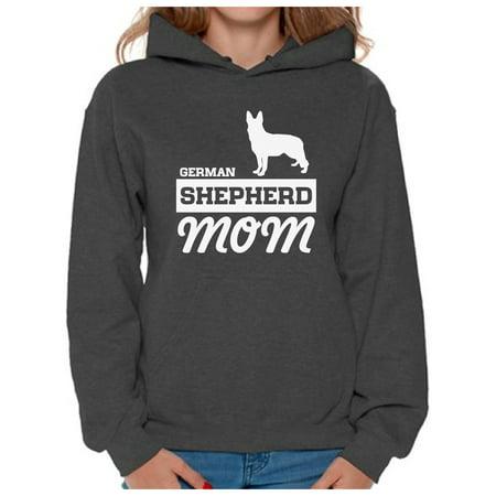 Awkward Styles Women's German Shepherd Mom Graphic Hoodie Tops Dog - Australian Shepherd Sweatshirt