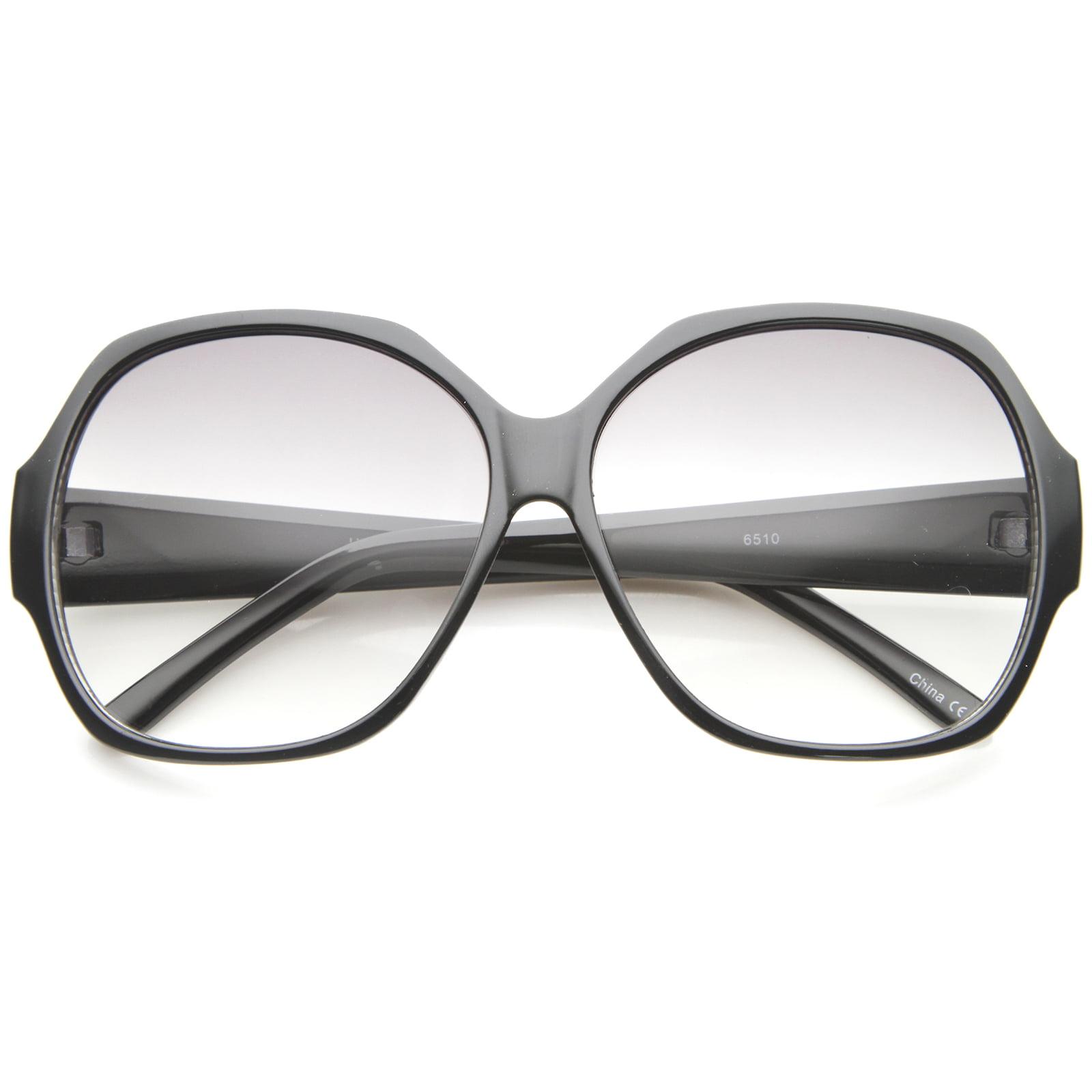 sunglassLA - Women's High Fashion Wide Temple Oversize Square Sunglasses - 58mm