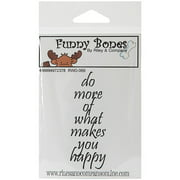 Riley & Company Funny Bones Cling Stamp 1X3-Do More Of What Makes You Happy,PK2