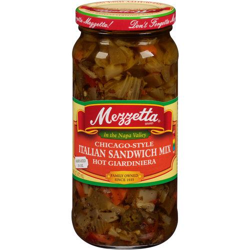 Mezzetta Chicago-Style Italian Sandwich Mix Hot Giardiniera, 16 fl oz