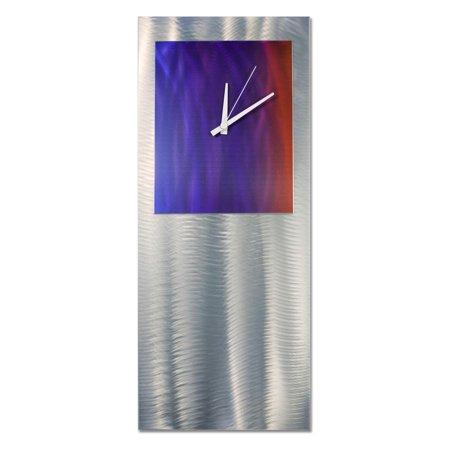 Metal Art Studio - Studio Wall Clock (Green Perforated Metal)