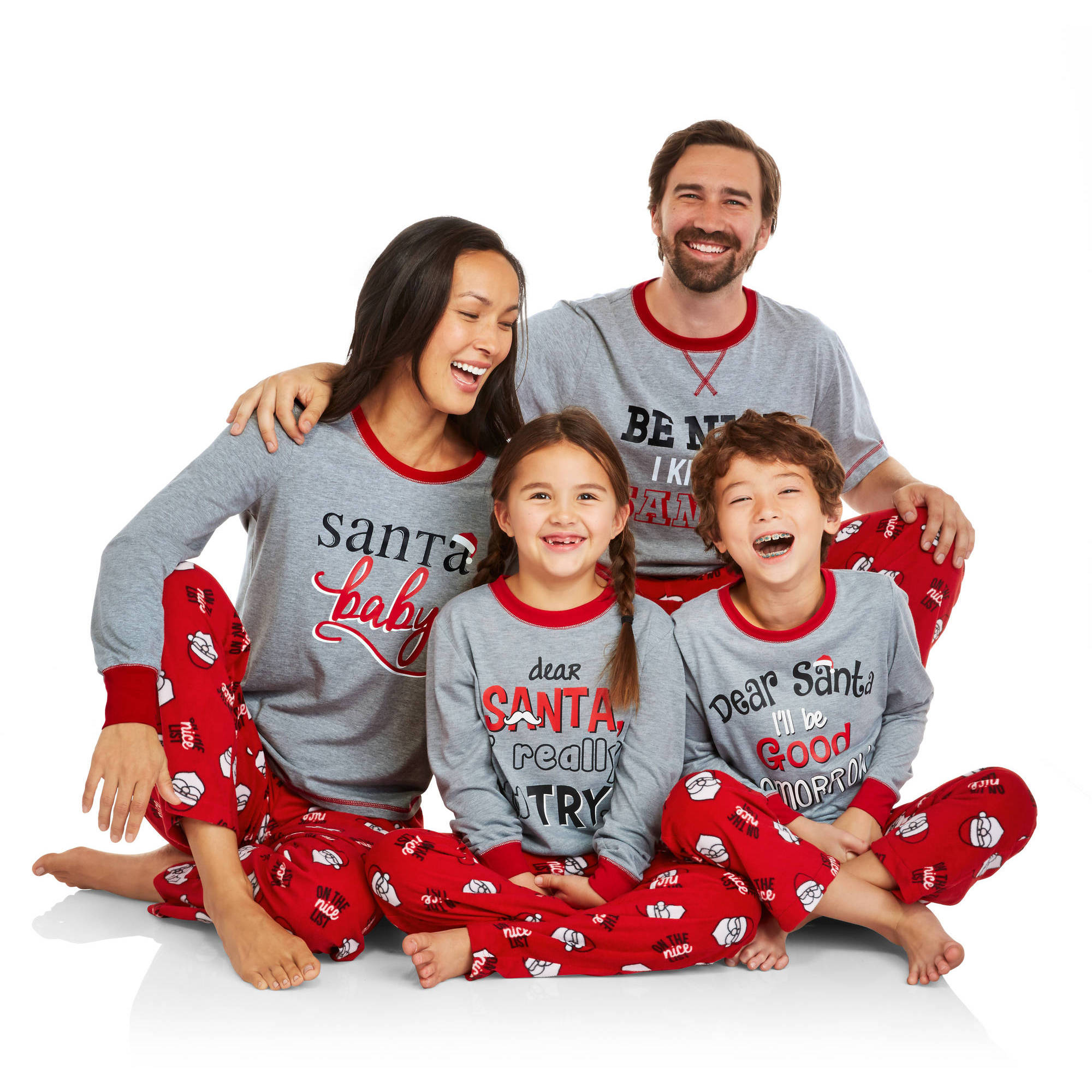 Holiday Family Pajamas Santa's List Sleep Pant and Top 2 Piece Sleepwear Set