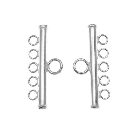 Sterling Silver Five Bead Strand Reducer Connector (2)