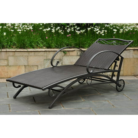 International Caravan Lounge (International Caravan Lisbon Wicker Contemporary Multi Position Patio Chaise Lounge )