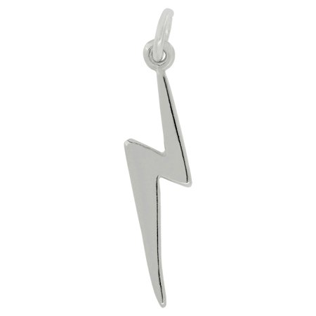 3653a52a570 Raposa Elegance - Sterling Silver Lightning Bolt Charm Pendant on a Sterling  Silver Carded Box Chain Necklace, 18