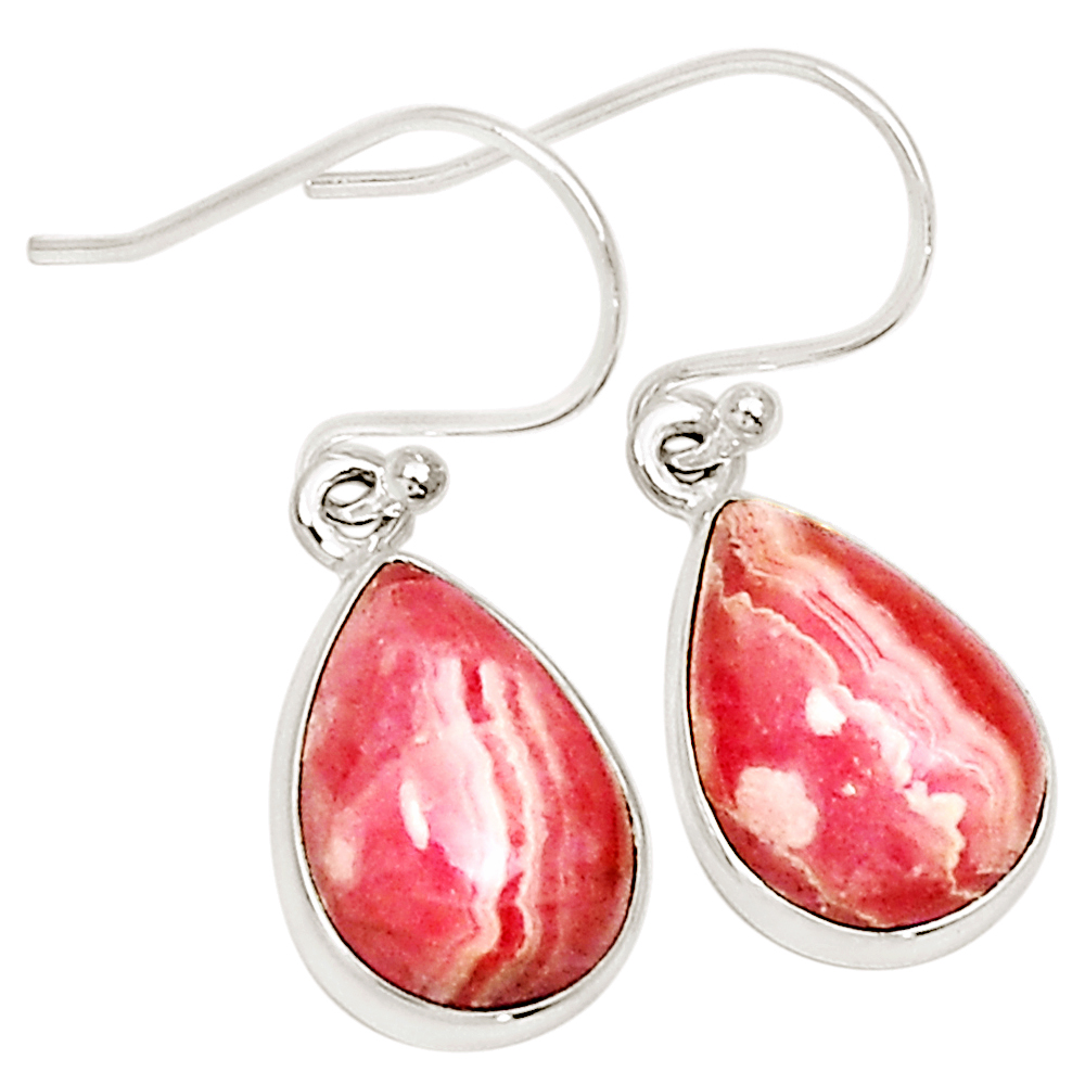 XTREMEGEMS Rhodochrosite 925 Sterling Silver Earrings Jewelry 11293E