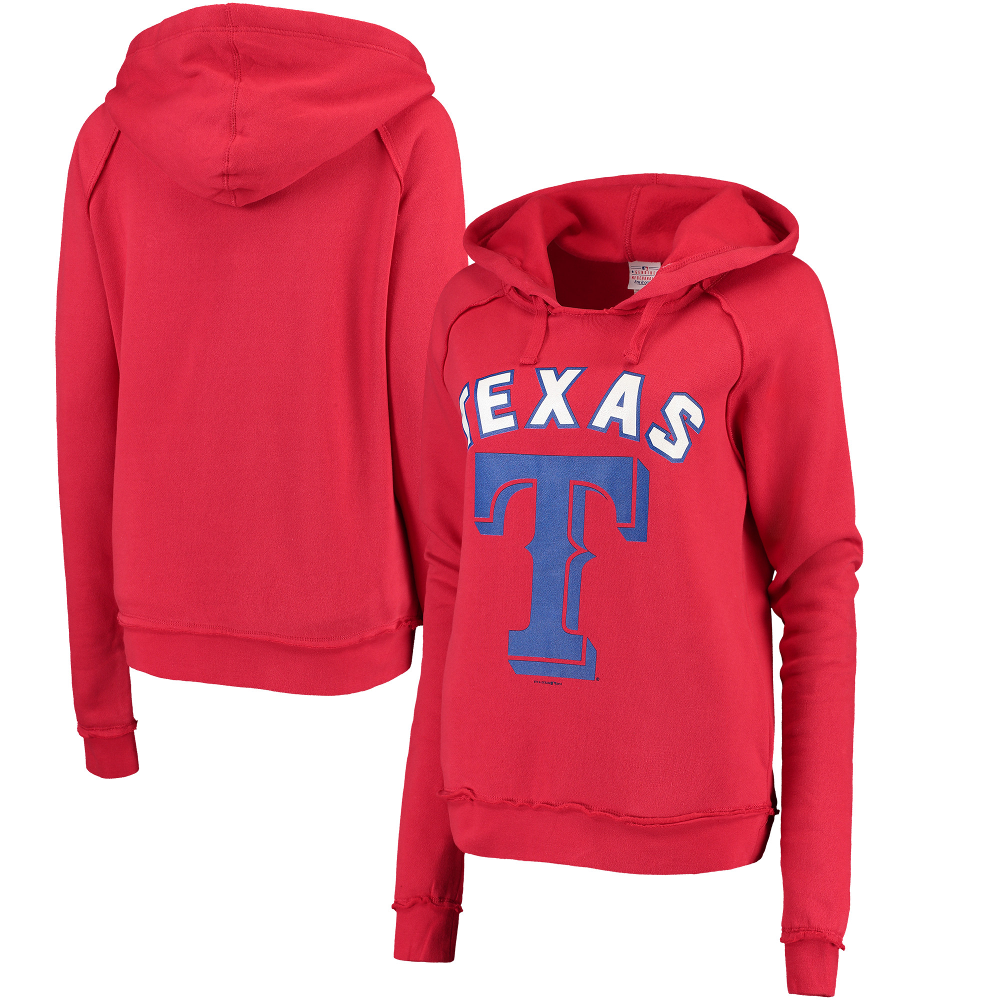 Texas Rangers 5th & Ocean by New Era Women's Hot Corner Hoodie - Red