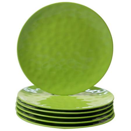 Certified International 11'' Melamine Dinner Plate (Set of 6) - Green Plate Set