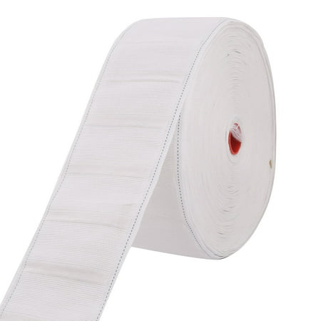 Household Bedroom Bathroom Nylon Curtain Drapery Tape Belt Roll White 27 Yards