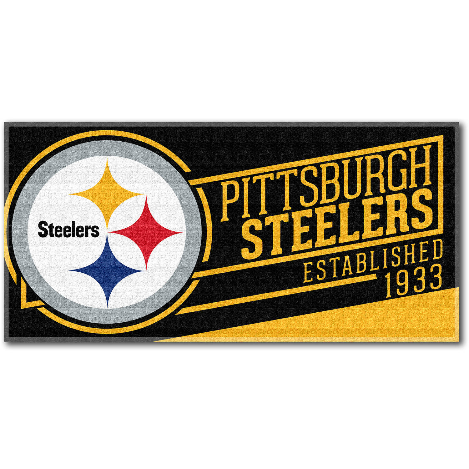 """NFL """"Cut Out"""" 30"""" x 60"""" Beach Towel, Pittsburgh Steelers"""