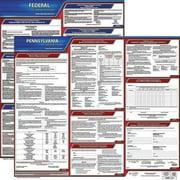JJ KELLER 100-PA-1 LaborLaw Poster,Fed/STA,PA,ENG,20inH,1yr