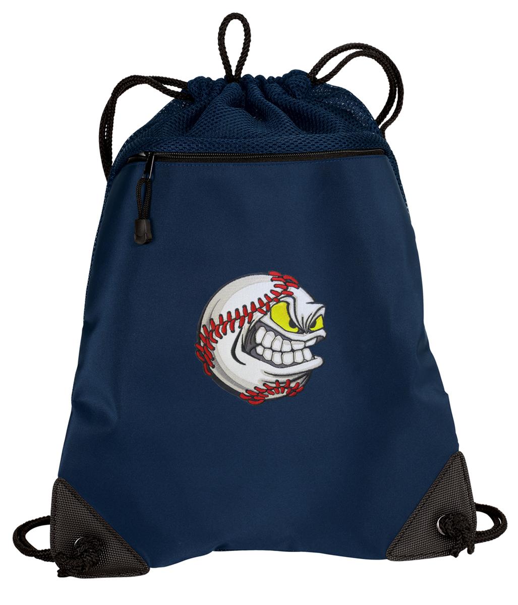 School Bag great gift Baseball Drawstring Backpack Day Bag Adjustable Cinch Sack Shoulder Bag Pockets Rucksack