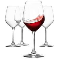 ShopoKus Italian Red Wine Glasses - 18 Ounce - Lead Free - Wine Glass Set of 4, Clear