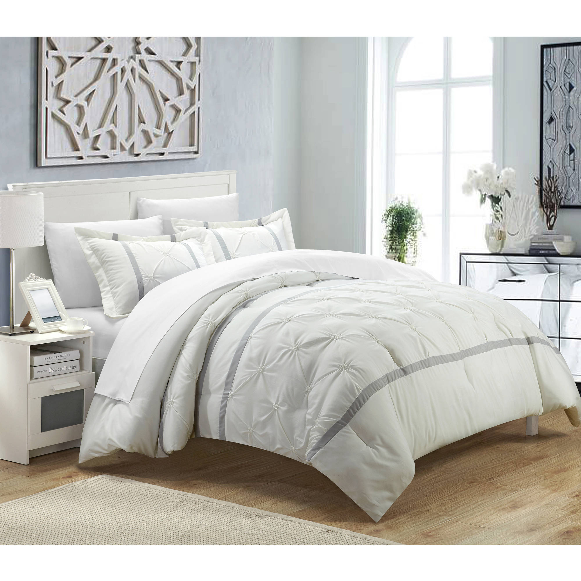 find shopping quotations white on beautiful diamond girls get pleat set pleated pattern guides comforter tucked pin piece damask twin pintuck deals cheap pinch