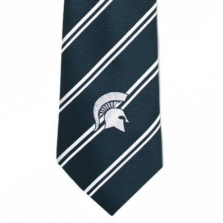 NCAA Michigan State Spartans Stripe Tie - Spartan Suit