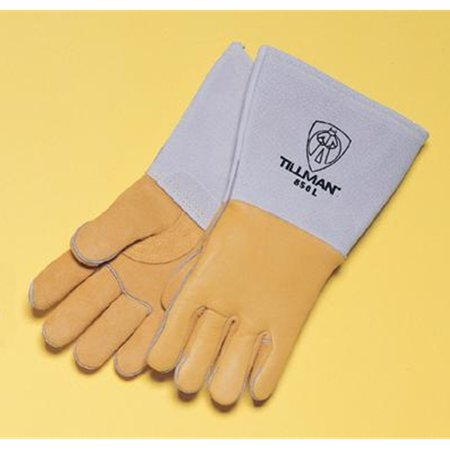 - Tillman Large 14'' Gold Top Grain Elkskin Cotton/Foam Lined Super Premium Grade Stick Welders Gloves With Reinforced Straight Thumb, Stiff Cowhide Cuff, Welted Finger, Kevlar Lock Stitching And Pul