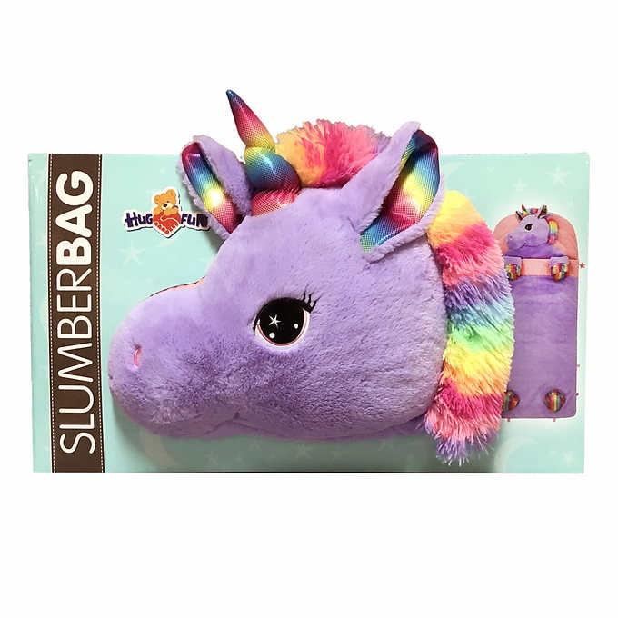 Unicorn Pink Shock Slumber Kids Plush Animal Sleeping Bag for Girls and Boys Unisex