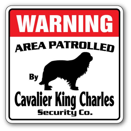 Cavalier King Charles Cotton Stockings - CAVALIER KING CHARLES Security Sign Area Patrolled guard dog purebred pet lover