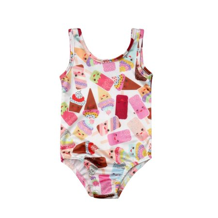 8796d8a97e46f Emmababy - Kids Toddler Baby Girls One-Piece Swimsuit Sleeveless Swimsuit  Ice Cream Bathing Suit - Walmart.com