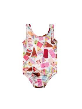 2ae8653159 Product Image Kids Toddler Baby Girls One-Piece Swimsuit Sleeveless Swimsuit  Ice Cream Bathing Suit
