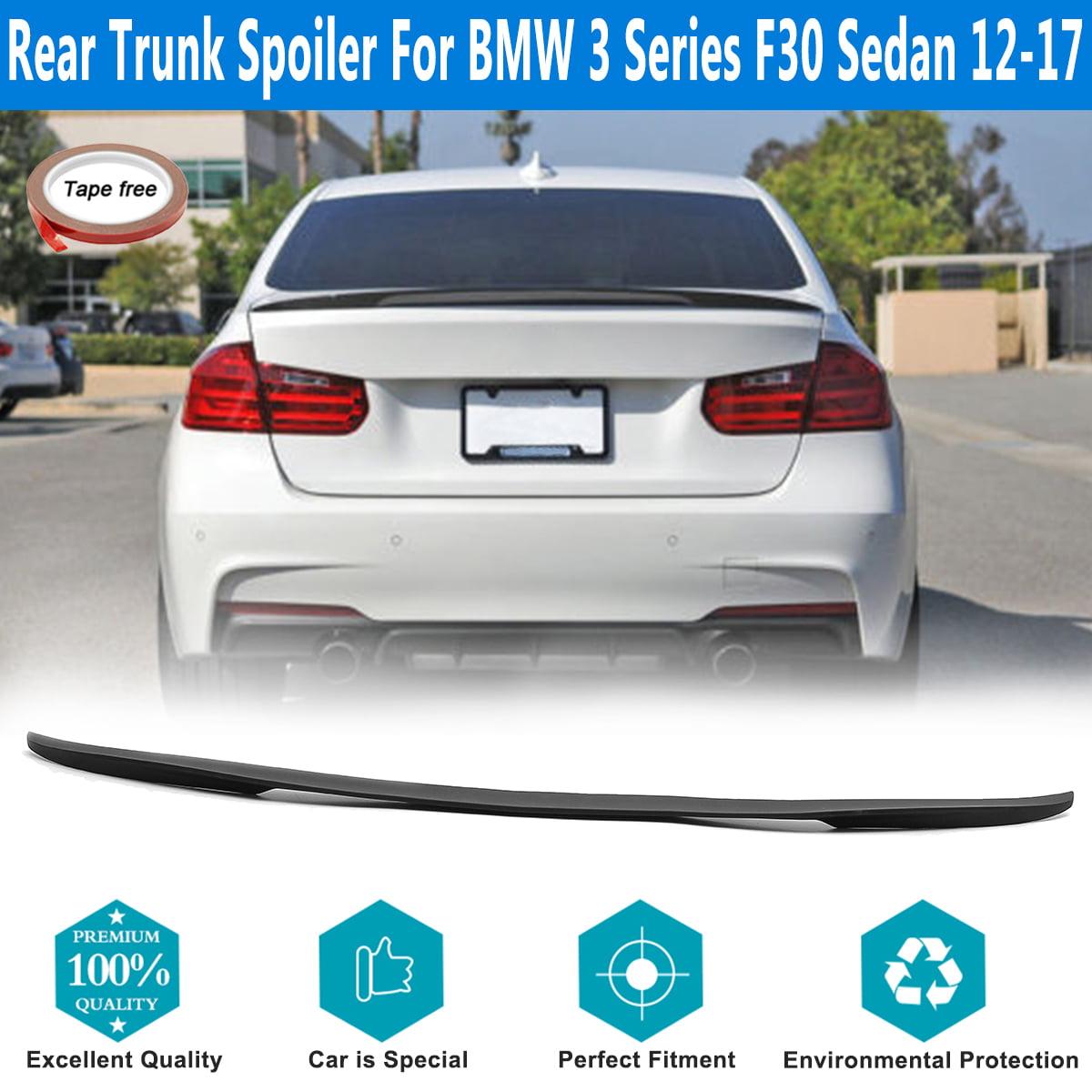 Rear Trunk Matte Black ABS Spoiler Wing For 12-17 BMW 3 Series F30 4-Door Sedan