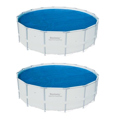 Bestway 15 Foot Round Above Ground Swimming Pool Solar Heat Cover (2 Pack)