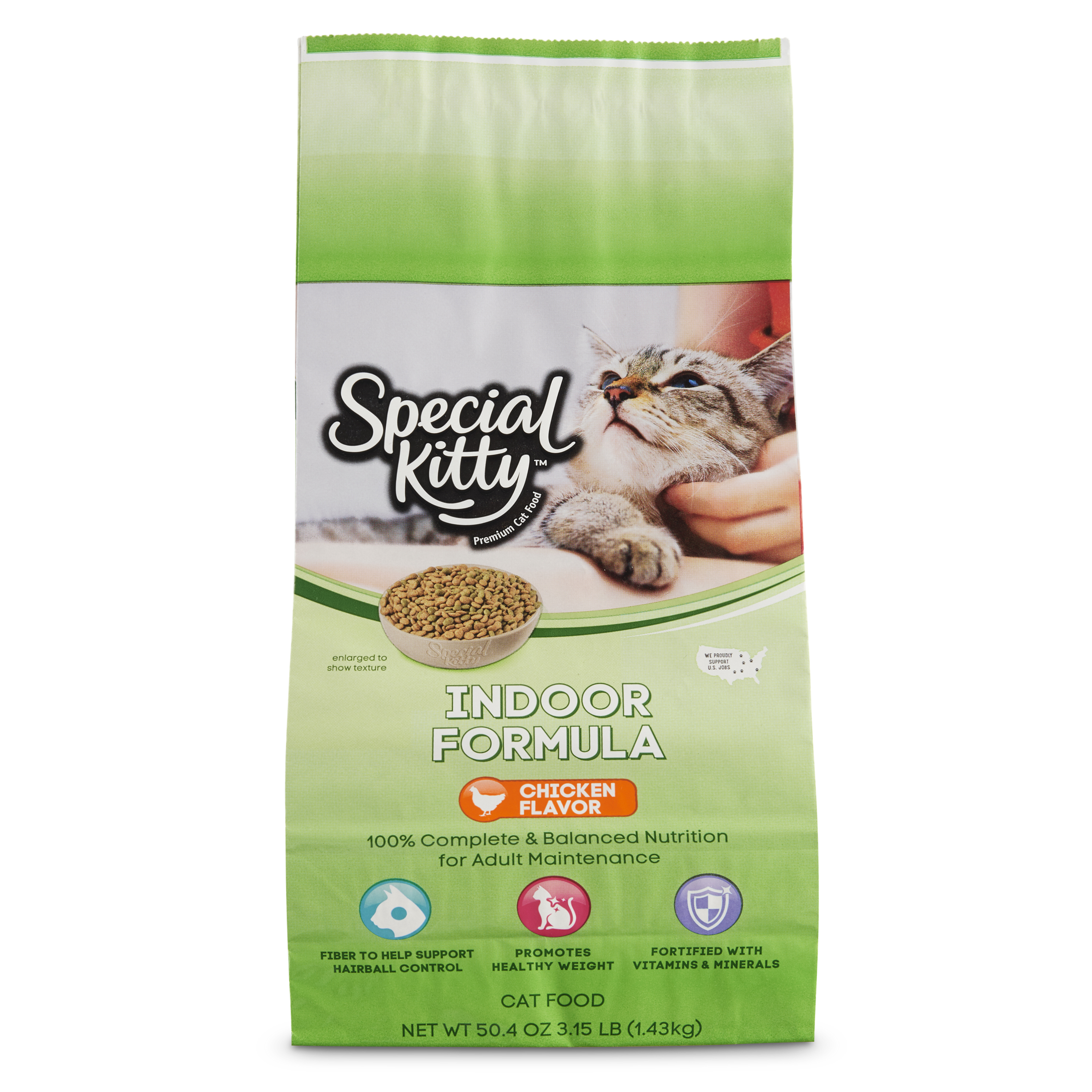 Special Kitty Indoor Formula with Chicken Dry Cat Food, 3.15 lb
