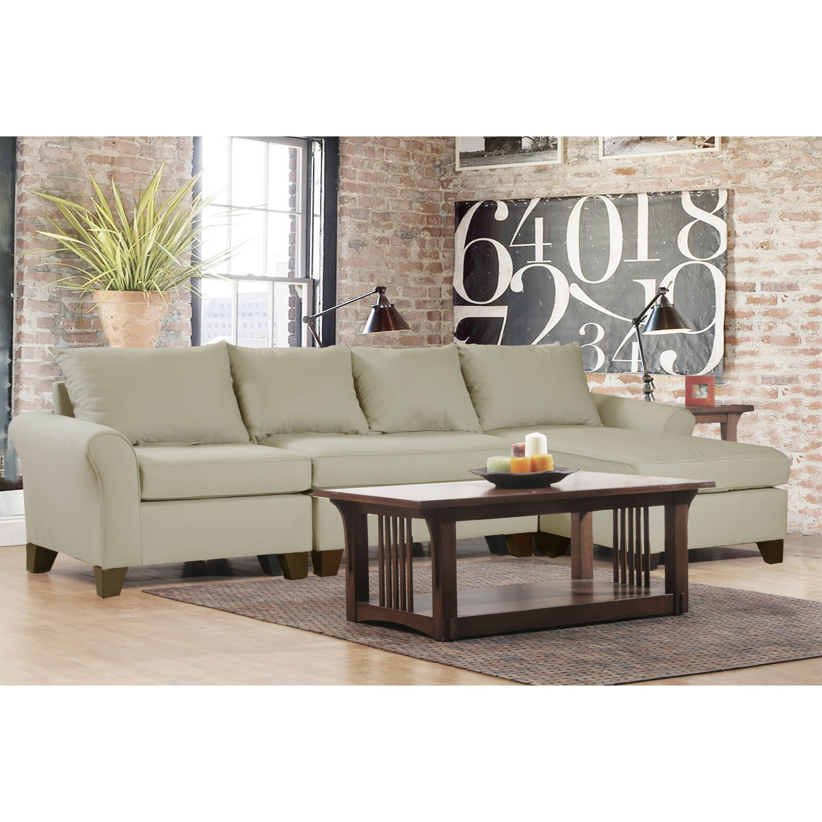 Carolina Accents Belle Meade 3 Piece Sectional