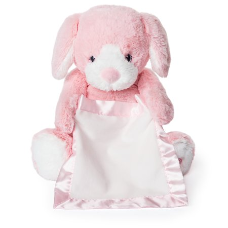 Peek-a-Boo Furry Friends Animated Peek-a-Boo Puppy Plush, Pink, 10u0022