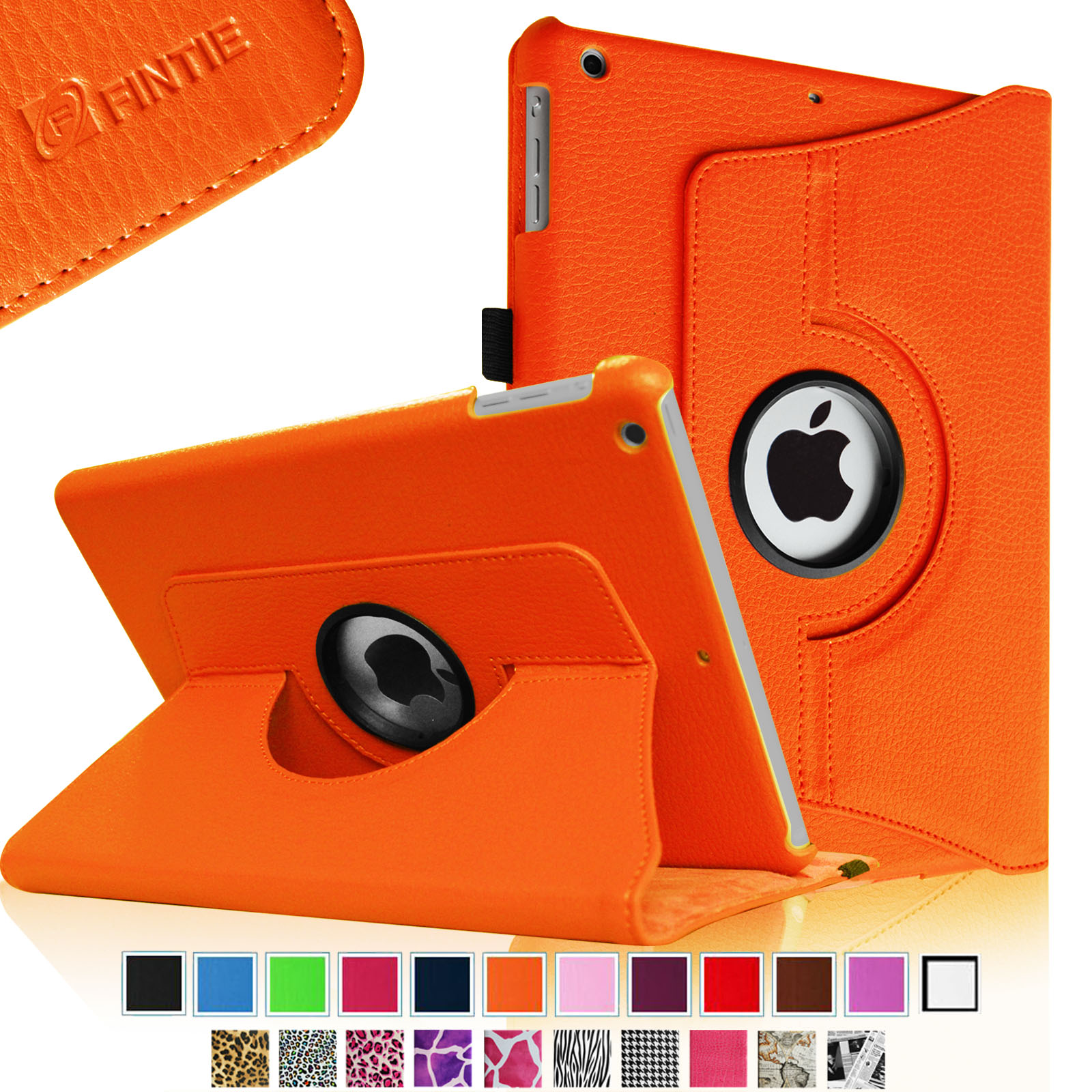 Fintie iPad Air Rotating Case - 360 Degree Rotating Stand Cover with Auto Sleep Wake, Orange