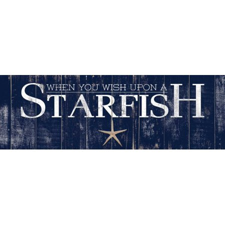 - Starfish Stretched Canvas - Elizabeth Medley (8 x 22)