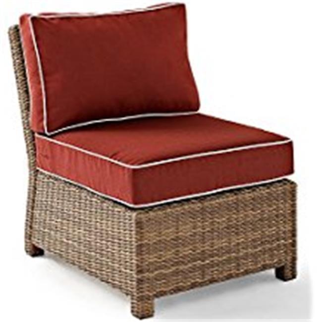 Bradenton Outdoor Wicker Sectional Center Chair, Sangria