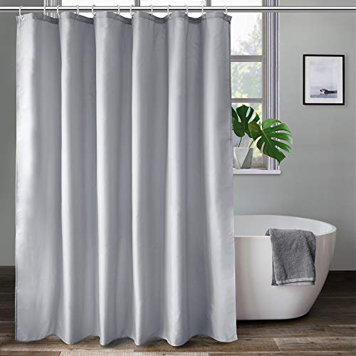 Aoohome Extra Long Shower Curtain 72x78 Inch Fabric Shower Curtain Liner For Hotel With Hooks Waterproof Light Grey Walmart Com Walmart Com