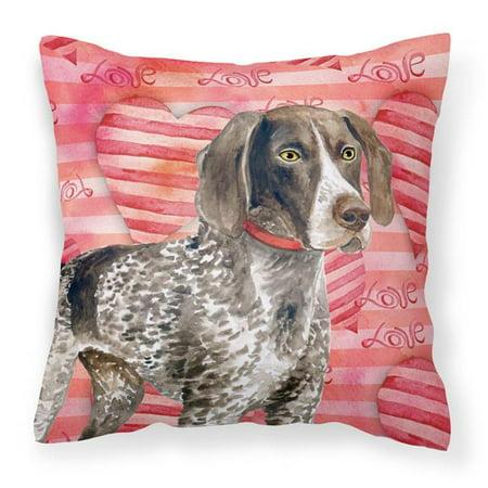 Carolines Treasures Bb9728pw1818 German Shorthaired Pointer Love Fabric Decorative Pillow Walmart Canada