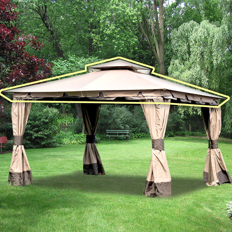 Walmart Gazebo Mainstays Landsdowne Heights Double Shelf