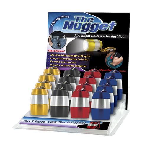 24/Pack Dm Merchandising Nug-Lte Nugget Flashlight 6 Led Flashlight