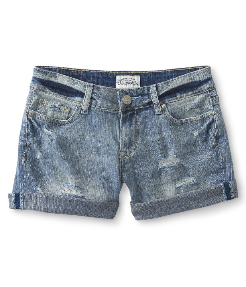Aeropostale Juniors Boyfriend Jean Casual Denim Shorts - Walmart.com