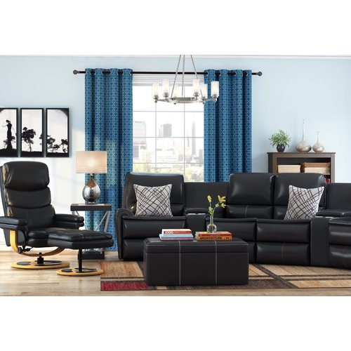 Latitude Run Winnols Manual Swivel Glider Recliner With Ottoman
