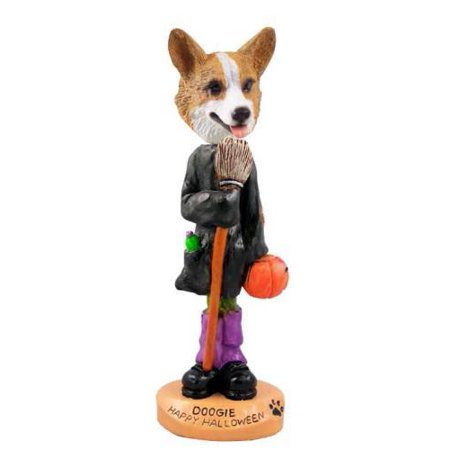 NO.DOOG51A31 Welsh Corgi Pembroke Happy Halloween Doogie Collectable Figurine - Happy Halloween Corgi